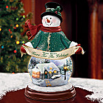Thomas Kinkade Home For The Holidays Illuminated Snowman Figurine