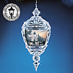 Thomas Kinkade Home For The Holidays 2004 Annual Chrismas Ornament