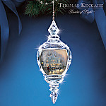 Thomas Kinkade Holiday Gathering Annual Crystal Christmas Tree Ornament