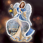 Thomas Kinkade Winter Angels Of Light Ornament Set One