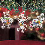 Winnie the Pooh Crystal Clear Holidays Ornament Set One