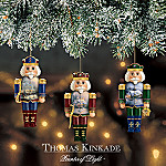 Thomas Kinkade Nutcracker Christmas Ornament Set One