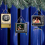 Elvis Greatest TV Moments Ornament Set One