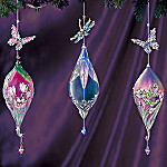 Tiffany Treasured Wings Heirloom Porcelain(R) Ornament Set One