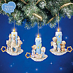 Precious Moments Nativity Lights Ornaments Set One