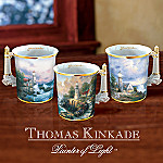 Thomas Kinkade Seaside Mugs Set One