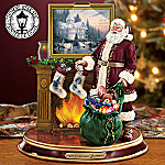 Thomas Kinkade Light Up the Holidays llluminated Santa Figurine