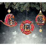 Firefighter Emblems Ornament Set One