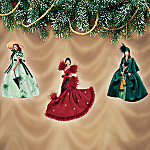 The Legendary Costumes of Scarlett O'Hara Ornament Set One