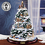 Thomas Kinkade Christmas By The Harbor Lighthouse Artificial Tabletop Christmas Tree