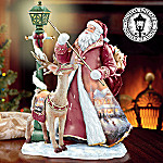 Thomas Kinkade Illuminated Old World Santa Figurine