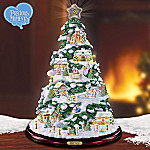 Precious Moments Holiday Village Artificial Tabletop Christmas Tree