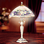 Lena Liu Butterfly Garden Floral Art Decorative Table Lamp