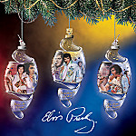 Elvis Presley Spiral Christmas Ornaments