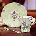 Lena Liu Iris Medly Collectible Teacup and Saucer