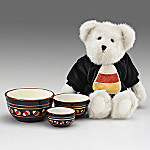 Boyds Halloween C.C. BooBear Plush Teddy Bear And Candy Corn Bowl Gfit Set
