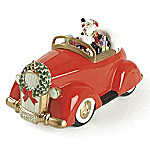 Fitz And Floyd Santa Claus In Classic Car Cookie Jar