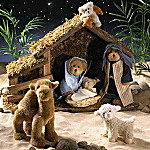 Boyds Nativity Plush Teddy Bear Gift Set