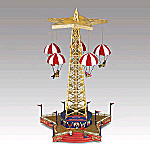 Mr. Christmas World's Fair Parachute Ride Animated Music Box