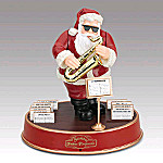 Mr. Christmas Santa Takes Requests Wooden Music Box