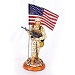 USMC Collectible Gallant Force Marine Figurine