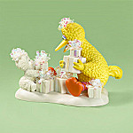 Snowbabies Collectible We Are Wrapped And Ready To Go Big Bird Figurine