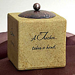 Comfort Candles Teacher Square Candleholder Gift