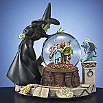 Collectible Wizard Of Oz Wicked Witch Crystal Ball Water Globe Music Box