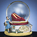 Collectible Wizard Of Oz Ruby Slippers Water Globe Music Box