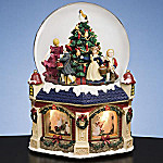 Collectible 12 Days Of Christmas Double Rotating Waterglobe Music Box