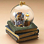 Boyds Bearstone Nanny & Tristan,Bed Time Stories Collectible Teddy Bear Musical Waterglobe