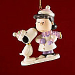 Lenox Peanuts Lucy's Christmas Smooch Ornament