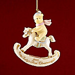 Lenox 2007 Annual Disney Winnie The Pooh Baby's First Christmas Ornament
