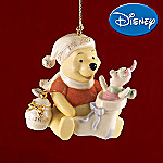 Lenox 2007 Annual Collectible Disney Winnie The Pooh And Piglet Stocking Surprise Ornament