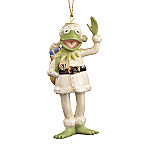 Lenox Muppets Kermit The Frog As Santa Collectible Christmas Ornament