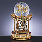 Horse Carousel Ride Merry-Go-Round Water Globe Music Box