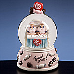 I Love Lucy, Lucy & Ethel Chocolate Factory Water Globe Music Box
