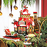 Department 56 North Pole Series Village: Santas Sleigh Maker Village Gift Set