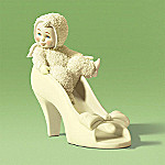 Department 56 Snowbabies Mommy, Can I Wear Your Shoes? Figurine
