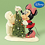 Department 56 Snowbabies Disney Decorating The Tree, Just Minnie And Me Figurine