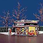 Department 56 Original Snow Village: NASCAR(R) Garage With Poster Sign Village Set