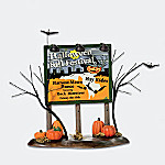Department 56 Snow Village Halloween Festival Billboard Village Accessory
