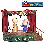Department 56 Peanuts Peace On Earth Village Accessory With Charlie Brown, Linus & Snoopy