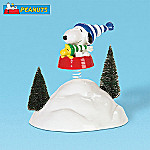 Department 56 Peanuts Snoopy & Woodstock In The Snow Bowl Village Accessory