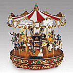 Mr. Christmas Carousel Collectible Animated Music Box