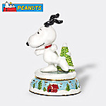 Department 56 Peanuts Snoopy Skates Christmas Collectible Jeweled Box