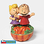 Department 56 Peanuts Halloween Pumpkin Patch Surprise Jeweled Box With Sally And Linus