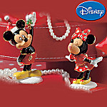 Department 56 Disney Mickey And Minnie Mistletoe Collectible Jeweled Box Set