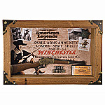 Collectible John Wayne And Winchester Memorabilia Shadow Box Wall Decor