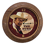 Collectible John Wayne Memorabilia Metal Wall Clock